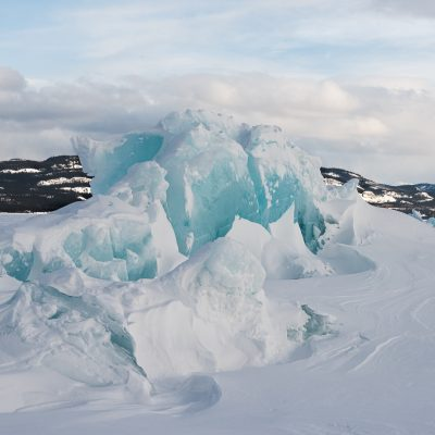 Lake Laberge Stacked Ice Ridges  ©Lois Moore